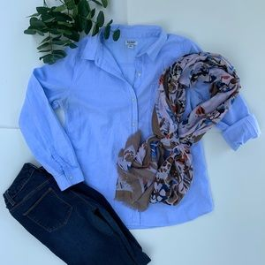 Old navy light blue button down